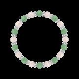 縁(6mm)人間関係を円満にするアベンチュリン・ローズクォーツ・水晶(クォーツ)ブレスレット