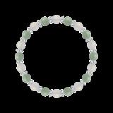 縁(6mm)再生する力を高めるホワイトオニキス・翡翠・水晶(クォーツ)ブレスレット