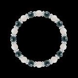 縁(6mm)才能と魅力を引き出すホワイトオパール・クリソコラ・水晶(クォーツ)ブレスレット