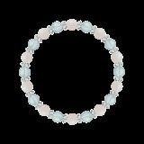 縁(6mm)愛される資質を養うホワイトオパール・ブルートパーズ・水晶(クォーツ)ブレスレット