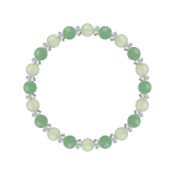 縁(6mm)心身の回復力を高めるプレナイト・アベンチュリン・水晶(クォーツ)ブレスレット