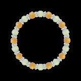 縁(6mm)心身の回復力を助けるプレナイト・イエローアベンチュリン・水晶(クォーツ)ブレスレット