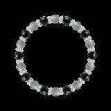 縁(6mm)悪影響から保護するラブラドライト・ブラックトルマリン・水晶(クォーツ)ブレスレット