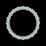縁(6mm)青磁色アマゾナイト・水晶(クォーツ)ブレスレット