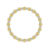 縁(6mm)支子色アラゴナイト・水晶(クォーツ)ブレスレット