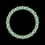 縁(6mm)若竹色アベンチュリン・水晶(クォーツ)ブレスレット