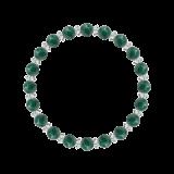 縁(6mm)緑青色アズロマラカイト・水晶(クォーツ)ブレスレット