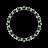 縁(6mm)千歳緑色ブラッドストーン・水晶(クォーツ)ブレスレット