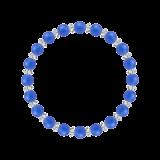 縁(6mm)青色ブルーメノウ・水晶(クォーツ)ブレスレット