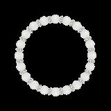 縁(6mm)月白色ブルームーンストーン・水晶(クォーツ)ブレスレット
