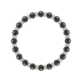 縁(6mm)鉄紺色ブルータイガーアイ・水晶(クォーツ)ブレスレット