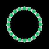 縁(6mm)若緑色クリソプレーズ・水晶(クォーツ)ブレスレット