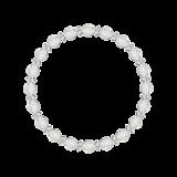 縁(6mm)露光色カット水晶・水晶(クォーツ)ブレスレット