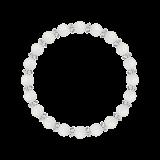 縁(6mm)白色フロスティクォーツ・水晶(クォーツ)ブレスレット