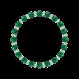 縁(6mm)緑色グリーンメノウ・水晶(クォーツ)ブレスレット