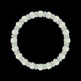 縁(6mm)白緑色グリーンアメジスト・水晶(クォーツ)ブレスレット