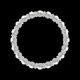 縁(6mm)灰白色ハウライト・水晶(クォーツ)ブレスレット