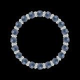 縁(6mm)群青色カイヤナイト・水晶(クォーツ)ブレスレット
