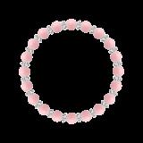 縁(6mm)鴇色ピンクオパール・水晶(クォーツ)ブレスレット