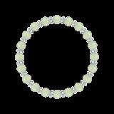 縁(6mm)若葉色プレナイト・水晶(クォーツ)ブレスレット