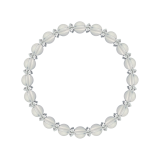 縁(6mm)白露色水晶・クォーツブレスレット