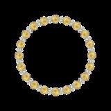 縁(6mm)黄金色ルチルクォーツ・水晶(クォーツ)ブレスレット