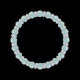 縁(6mm)白群色シーブルーカルセドニー・水晶(クォーツ)ブレスレット
