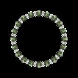 縁(6mm)松葉色セラフィナイト・水晶(クォーツ)ブレスレット