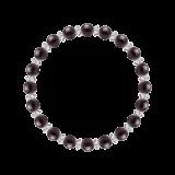 縁(6mm)紫紺色スギライト・水晶(クォーツ)ブレスレット