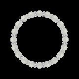 縁(6mm)卯の花色ホワイトオニキス・水晶(クォーツ)ブレスレット