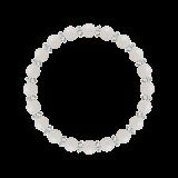 縁(6mm)練色ホワイトオパール・水晶(クォーツ)ブレスレット