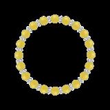 縁(6mm)黄色イエローメノウ・水晶(クォーツ)ブレスレット
