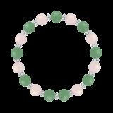 縁(8mm)人間関係を円満にするアベンチュリン・ローズクォーツ・水晶(クォーツ)ブレスレット