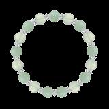 縁(8mm)ストレスを浄化するアマゾナイト・グリーンアメジスト・水晶(クォーツ)ブレスレット
