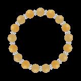 縁(8mm)豊かな生活をもたらすアラゴナイト・イエローアベンチュリン・水晶(クォーツ)ブレスレット