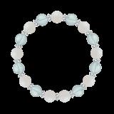 縁(8mm)愛される資質を養うホワイトオパール・ブルートパーズ・水晶(クォーツ)ブレスレット