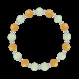 縁(8mm)心身の回復力を助けるプレナイト・イエローアベンチュリン・水晶(クォーツ)ブレスレット