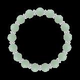 縁(8mm)青磁色アマゾナイト・水晶(クォーツ)ブレスレット