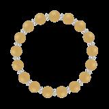 縁(8mm)支子色アラゴナイト・水晶(クォーツ)ブレスレット