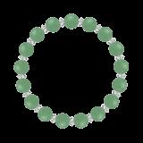 縁(8mm)若竹色アベンチュリン・水晶(クォーツ)ブレスレット