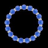 縁(8mm)青色ブルーメノウ・水晶(クォーツ)ブレスレット