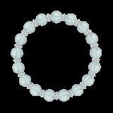 縁(8mm)秘色色ブルートパーズ・水晶(クォーツ)ブレスレット