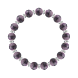 縁(8mm)京紫色チャロアイト・水晶(クォーツ)ブレスレット