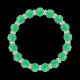 縁(8mm)若緑色クリソプレーズ・水晶(クォーツ)ブレスレット