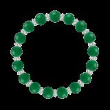 縁(8mm)緑色グリーンメノウ・水晶(クォーツ)ブレスレット