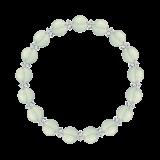 縁(8mm)白緑色グリーンアメジスト・水晶(クォーツ)ブレスレット