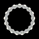 縁(8mm)灰白色ハウライト・水晶(クォーツ)ブレスレット