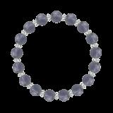 縁(8mm)青褐色アイオライト・水晶(クォーツ)ブレスレット