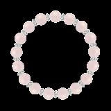 縁(8mm)撫子色モルガナイト・水晶(クォーツ)ブレスレット