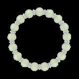 縁(8mm)若葉色プレナイト・水晶(クォーツ)ブレスレット